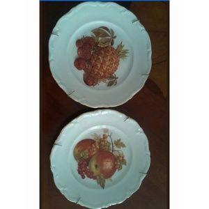 Set of 2  WINTERLING ROSLAU  Decorative plates